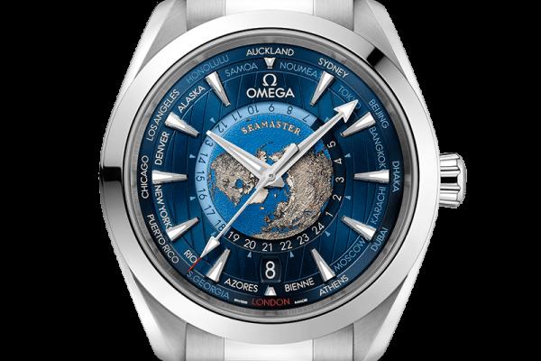Aqua Terra Co-Axial Master Chrono GMT Worldtimer 43 mm